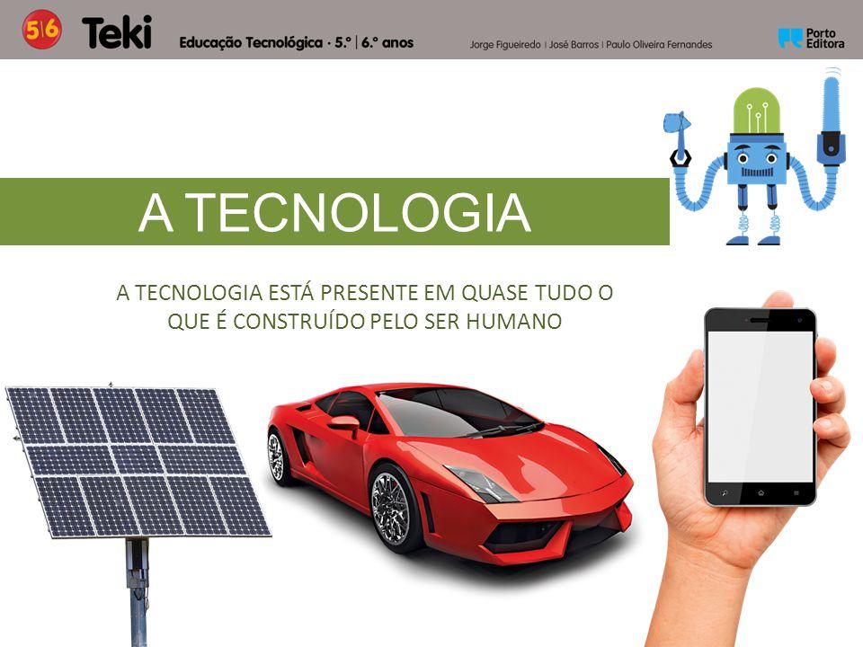 A TECNOLOGIA A TECNOLOGIA ESTÁ PRESENTE EM QUASE TUDO O QUE É CONSTRUÍDO PELO SER HUMANO