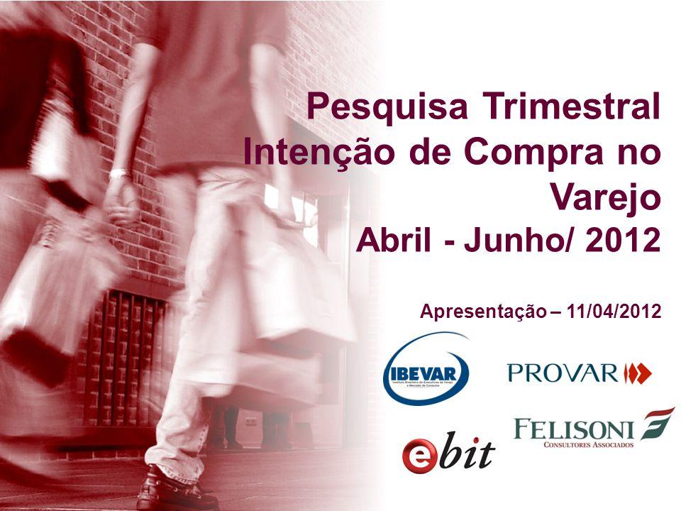 Pesquisa Trimestral Intenção de Compra no Varejo Abril - Junho/ 2012 Apresentação – 11/04/2012
