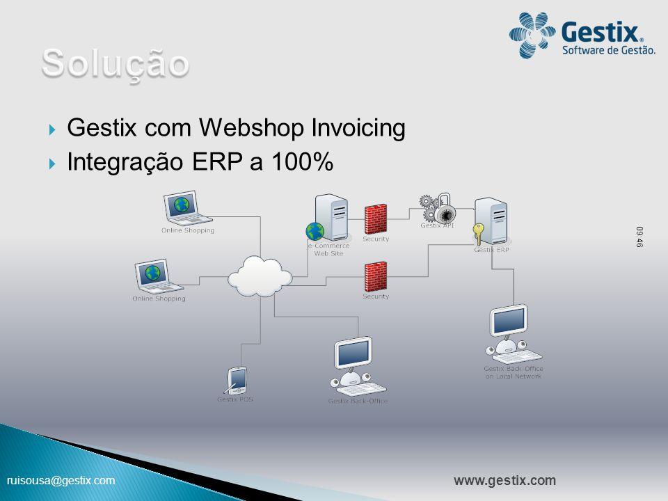 ruisousa@gestix.com  Gestix com Webshop Invoicing  Integração ERP a 100% 09:47 www.gestix.com