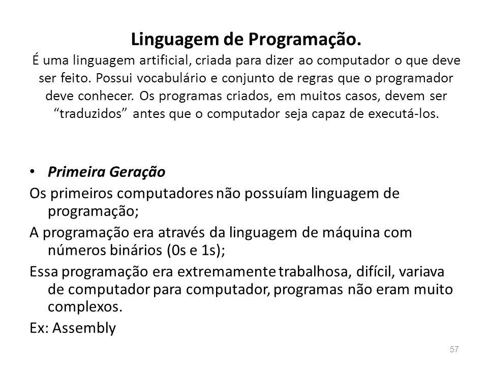 Linguagem de Programação.