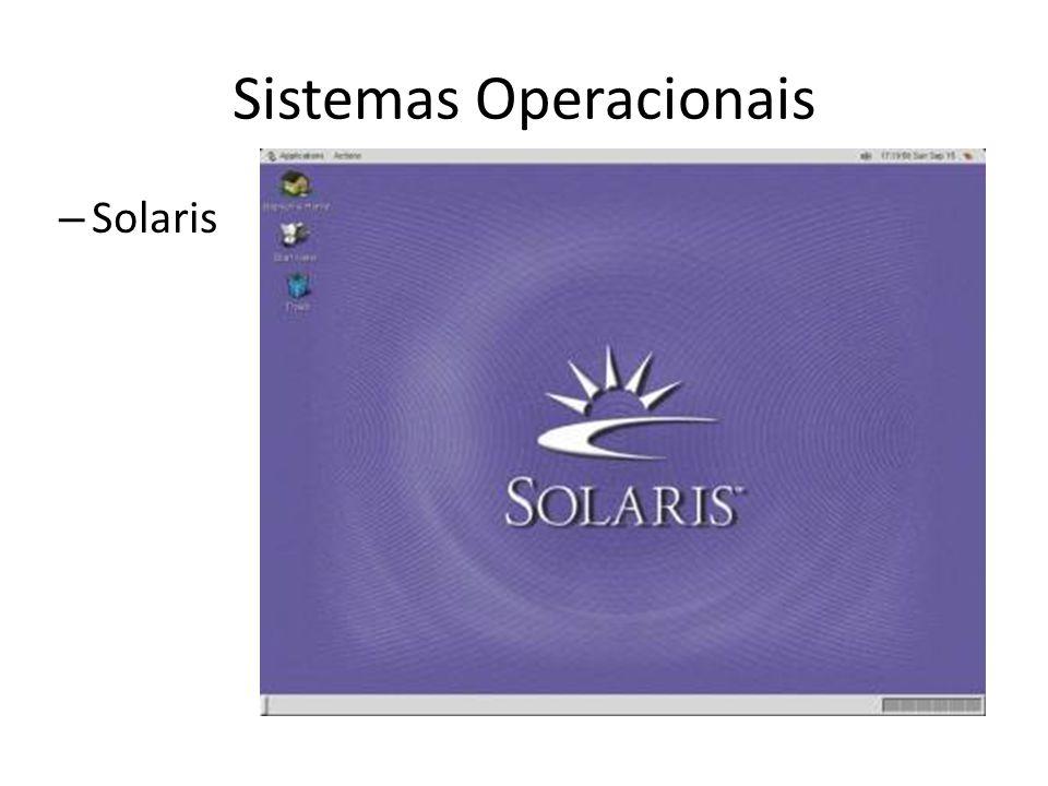 Sistemas Operacionais – Solaris