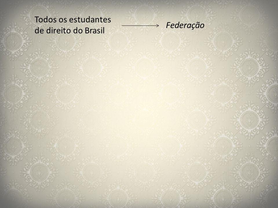 Todos os estudantes de direito do Brasil Federação