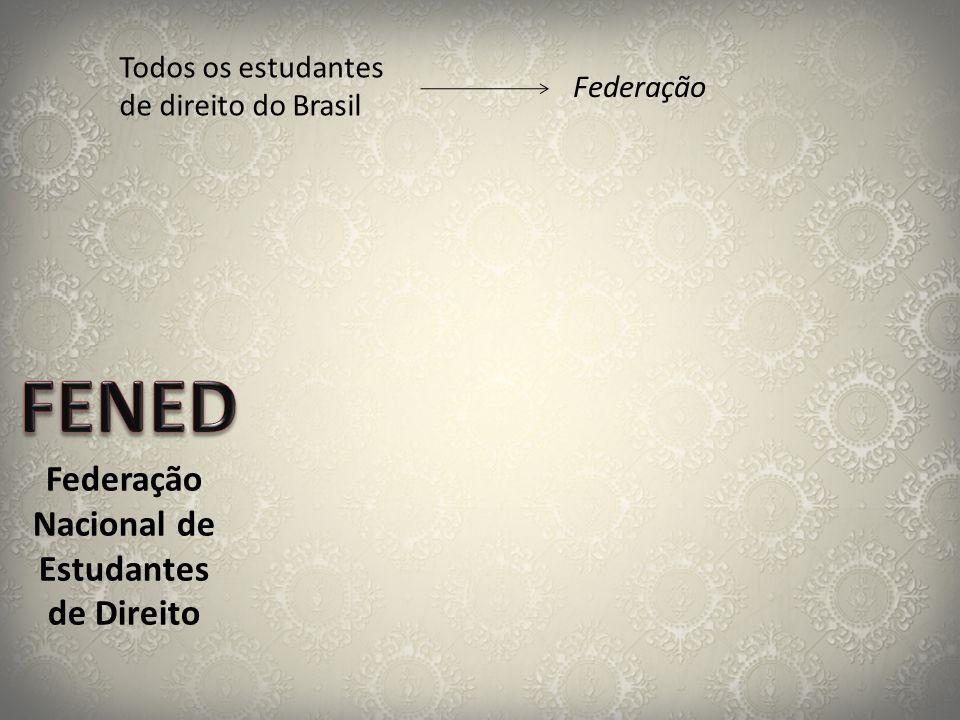 Federação Nacional de Estudantes de Direito Todos os estudantes de direito do Brasil Federação