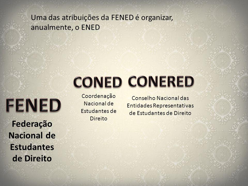 Federação Nacional de Estudantes de Direito Coordenação Nacional de Estudantes de Direito Conselho Nacional das Entidades Representativas de Estudante