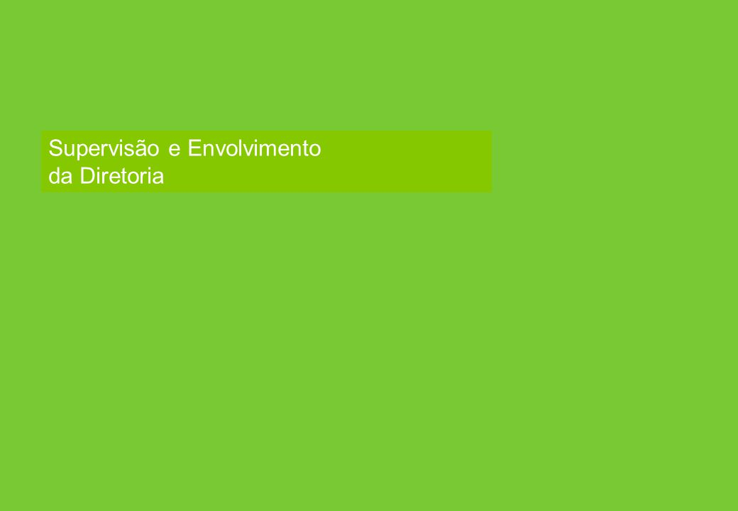 Aon - Particular–Confidencial e Distribuição Restrita 31 Aon Risk Solutions Propriedade Exclusiva e Confidencial Supervisão e Envolvimento da Diretori