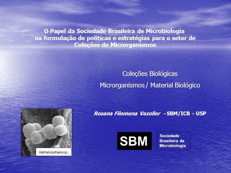 O Papel da Sociedade Brasileira de Microbiologia na formulação de políticas e estratégias para o setor de Coleções de Microrganismos Coleções Biológic