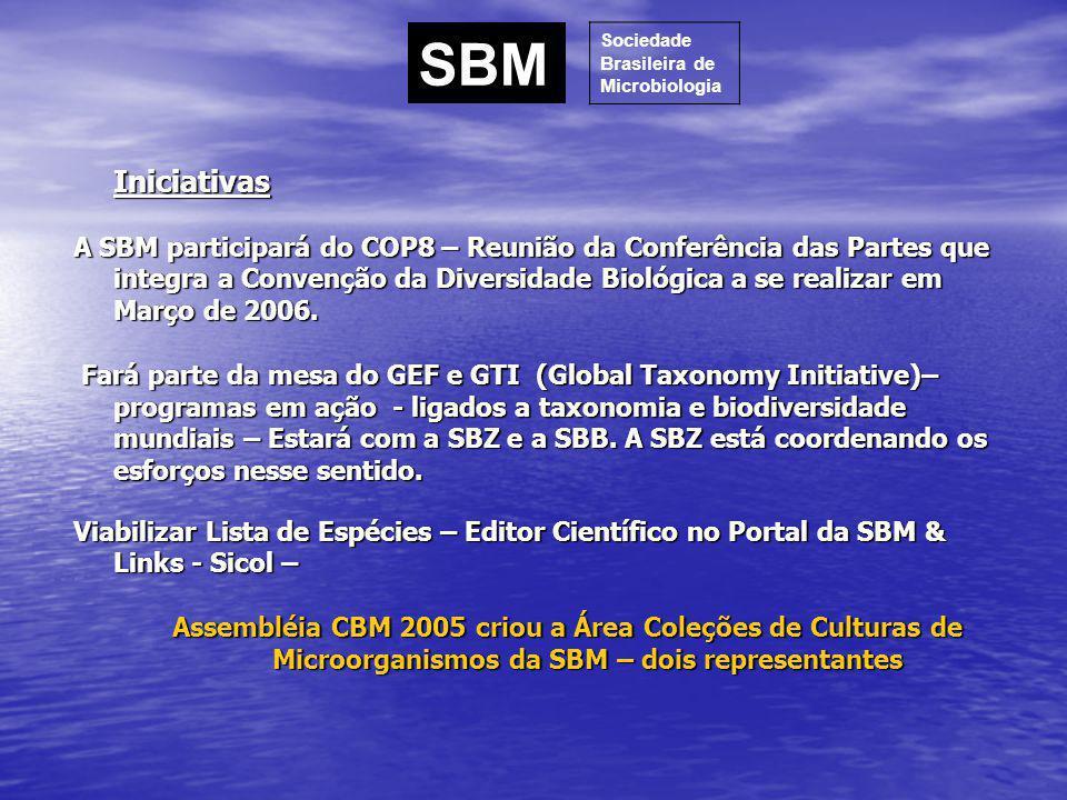 Iniciativas A SBM participará do COP8 – Reunião da Conferência das Partes que integra a Convenção da Diversidade Biológica a se realizar em Março de 2