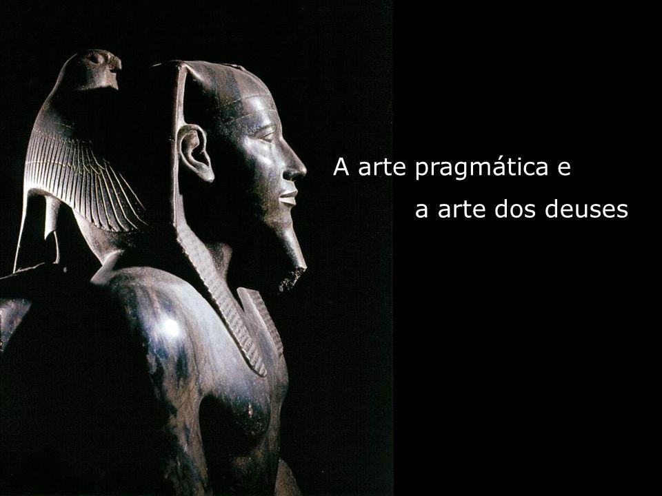 Entre elas destaca-se a Lei da Frontalidade, que determina a representação das figuras humanas com o tronco e olhos de frente e as pernas, os pés e a cabeça de perfil.