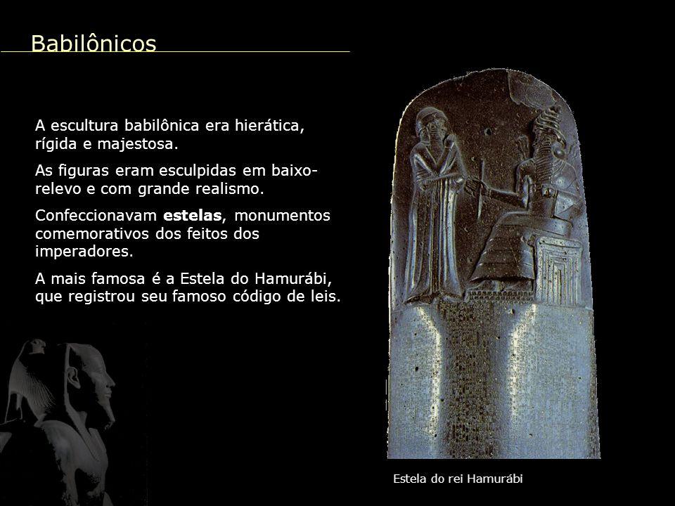 Tutancâmon junto à esposa Estatuária e pintura Com as reformas religiosas do faraó Amenófis IV a arte sofreu um momento de ruptura, com uma certa liberdade artística e uma preocupação mais decorativa.