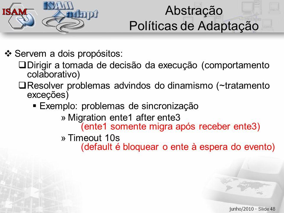  Clique para editar os estilos do texto mestre  Segundo nível  Terceiro nível  Quarto nível  Quinto nível junho/2010 - Slide 48 Abstração Polític