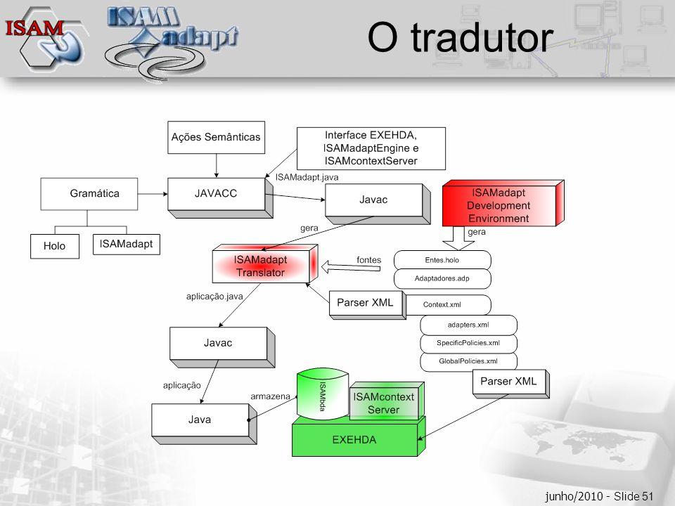  Clique para editar os estilos do texto mestre  Segundo nível  Terceiro nível  Quarto nível  Quinto nível junho/2010 - Slide 51 O tradutor