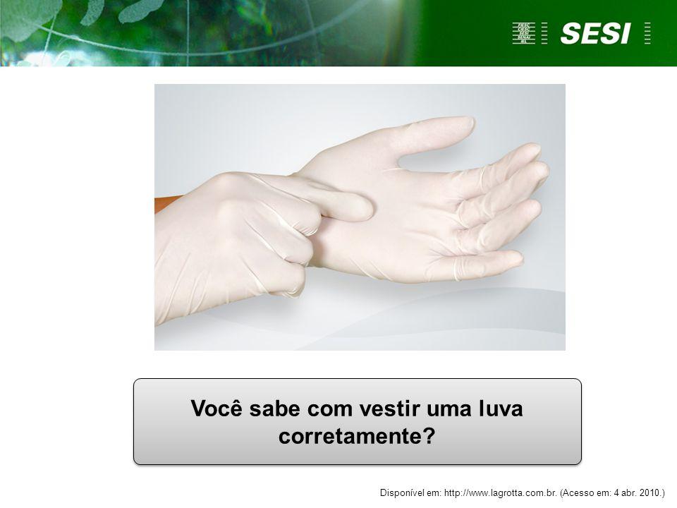 Você sabe com vestir uma luva corretamente.Disponível em: http://www.lagrotta.com.br.