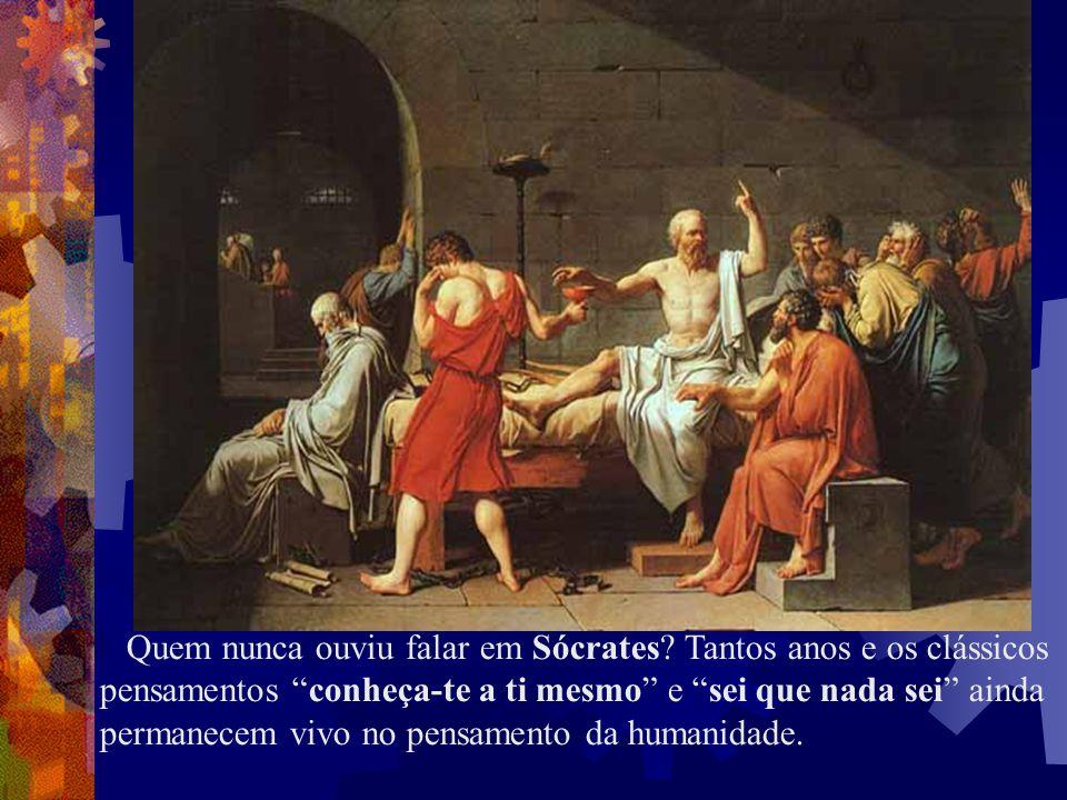 """Quem nunca ouviu falar em Sócrates? Tantos anos e os clássicos pensamentos """"conheça-te a ti mesmo"""" e """"sei que nada sei"""" ainda permanecem vivo no pensa"""