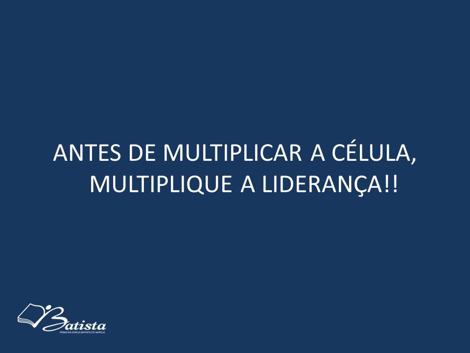 ANTES DE MULTIPLICAR A CÉLULA, MULTIPLIQUE A LIDERANÇA!!