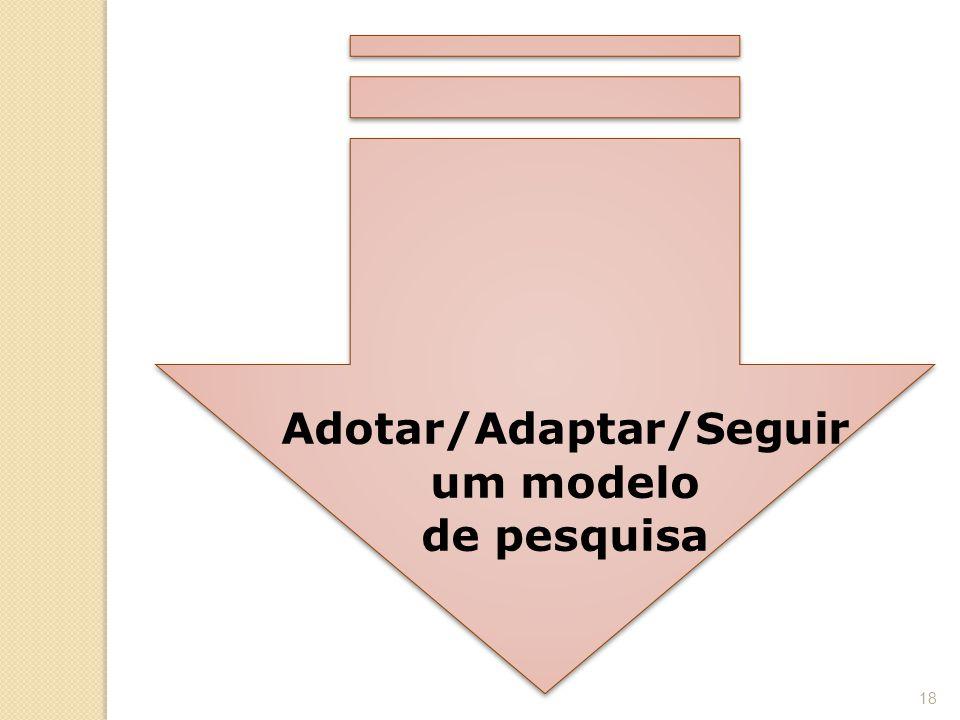 Adotar/Adaptar/Seguir um modelo de pesquisa 18