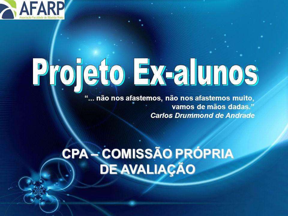 """CPA – COMISSÃO PRÓPRIA DE AVALIAÇÃO """"... não nos afastemos, não nos afastemos muito, vamos de mãos dadas."""" Carlos Drummond de Andrade"""