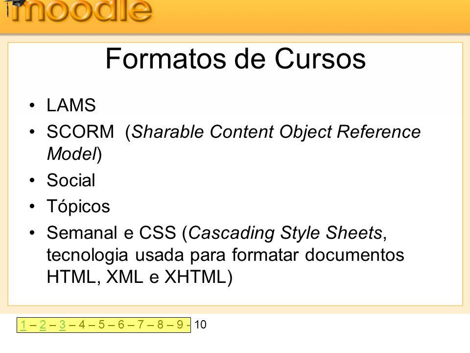 11 – 2 – 3 – 4 – 5 – 6 – 7 – 8 – 9 - 1023 Exemplos •Formato em tópicos: As aulas são organizadas em tópicos numerados sequencialmente: aula 1, 2, 3 e assim por diante.