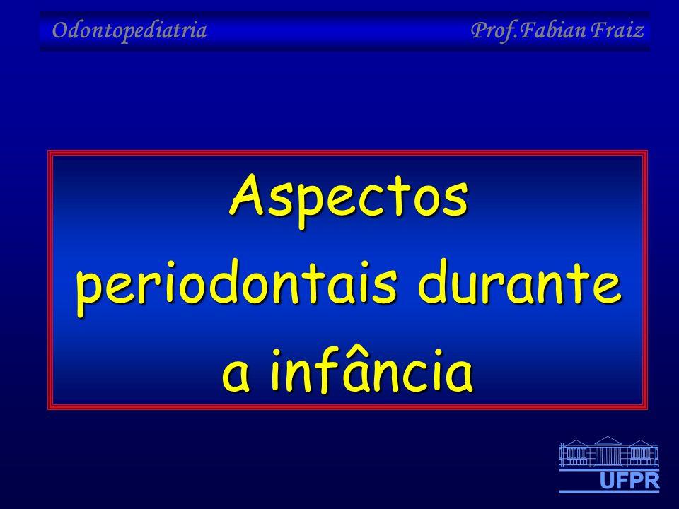 Odontopediatria Prof.Fabian Fraiz Aspectos periodontais durante a infância