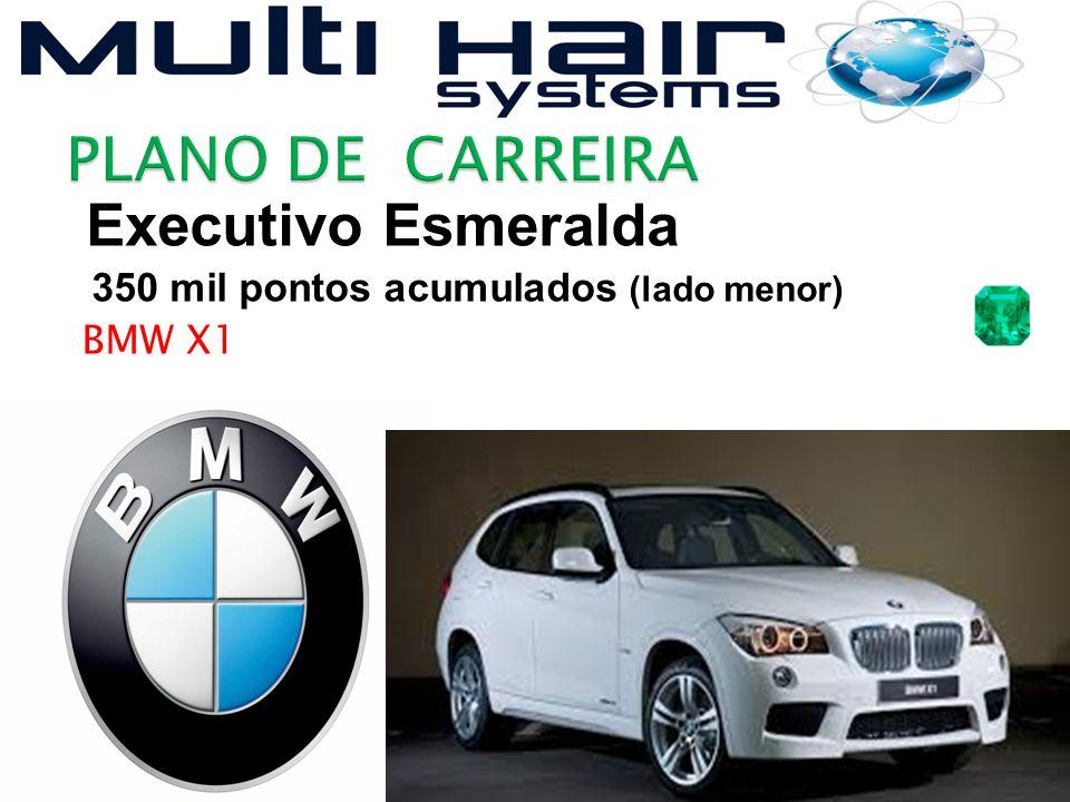 Executivo Esmeralda 350 mil pontos acumulados (lado menor) BMW X1