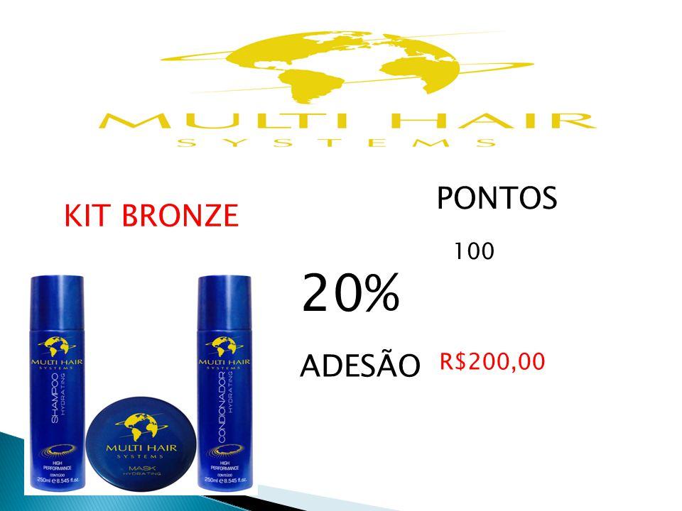 PONTOS 100 20% ADESÃO R$200,00 KIT BRONZE