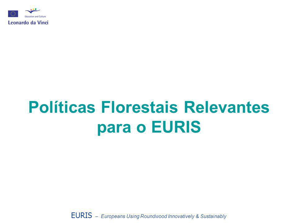 Políticas Florestais Relevantes para o EURIS EURIS – Europeans Using Roundwood Innovatively & Sustainably