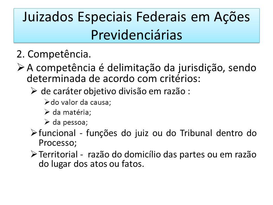 Juizados Especiais Federais em Ações Previdenciárias 3.