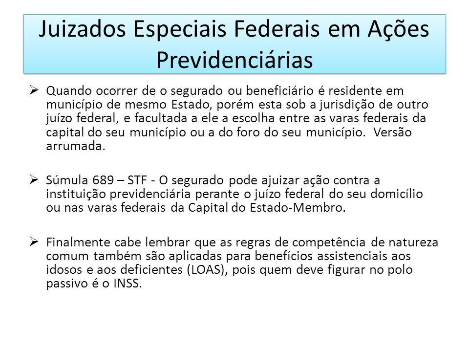 Juizados Especiais Federais em Ações Previdenciárias 6.Competência determinada pelo valor da causa.