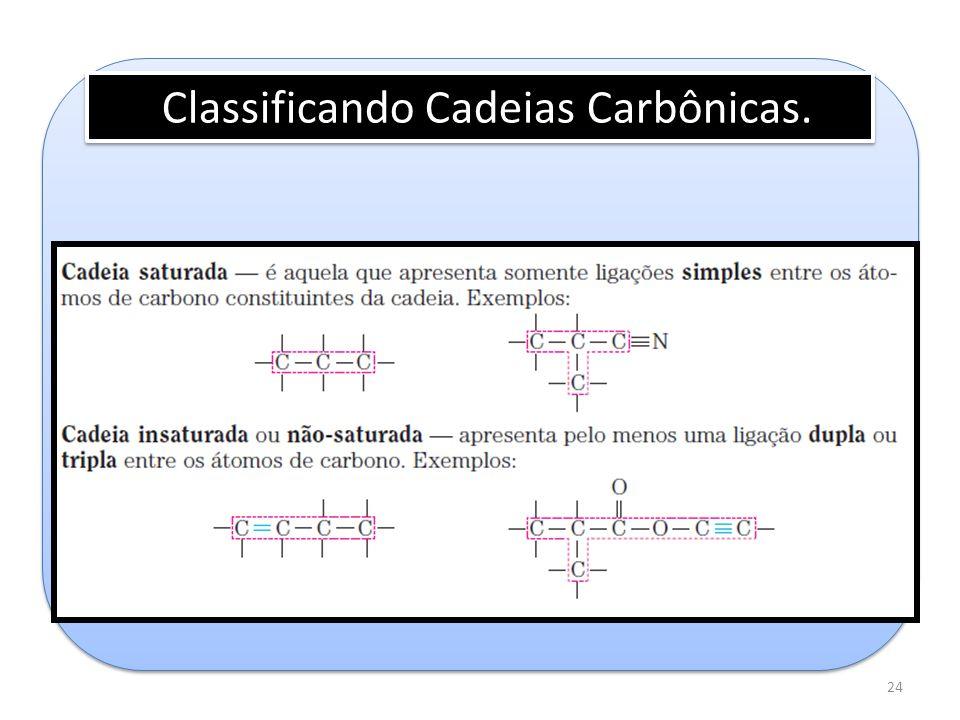24 Classificando Cadeias Carbônicas.