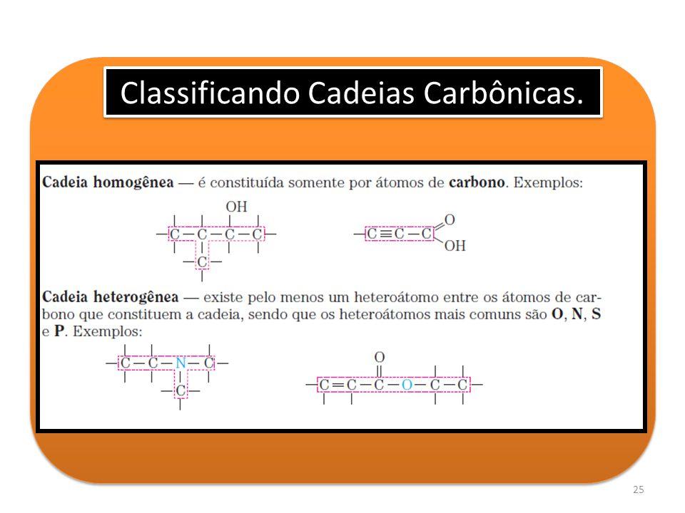 25 Classificando Cadeias Carbônicas.