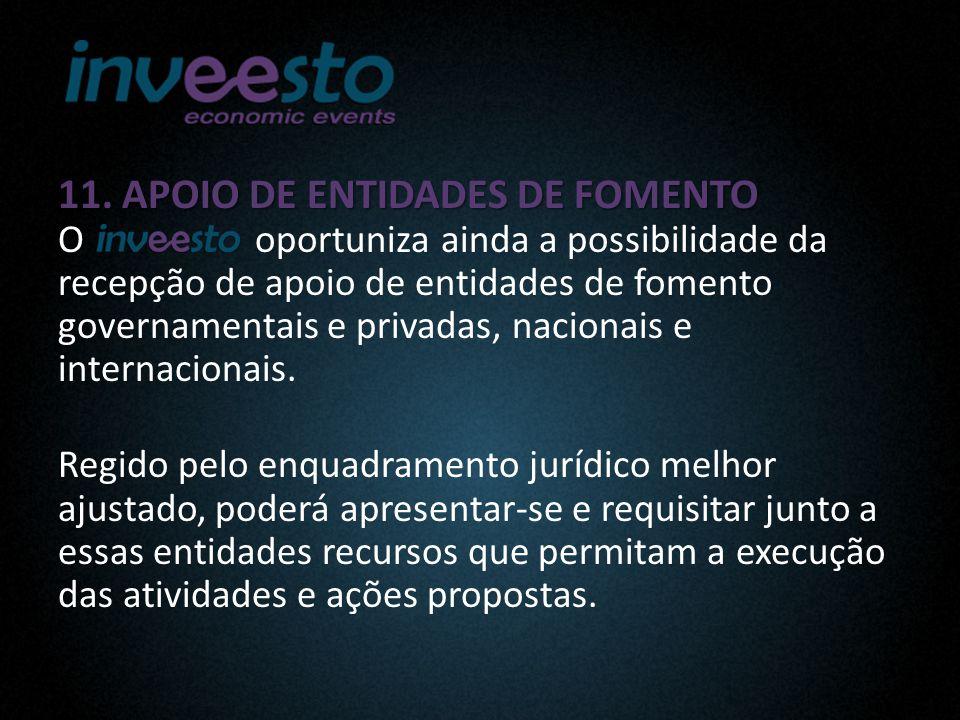 11. APOIO DE ENTIDADES DE FOMENTO 11.