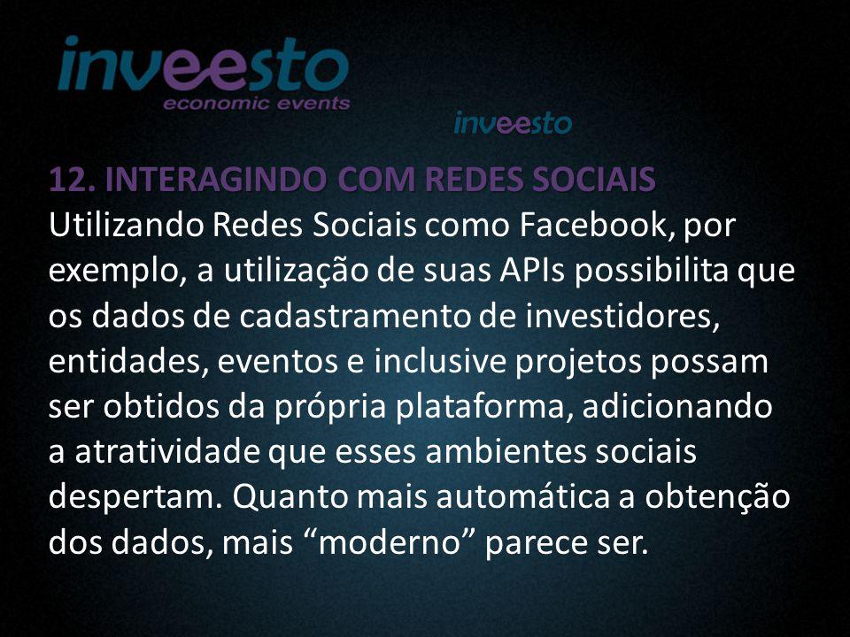12. INTERAGINDO COM REDES SOCIAIS 12.