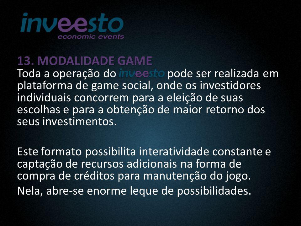 13. MODALIDADE GAME 13.