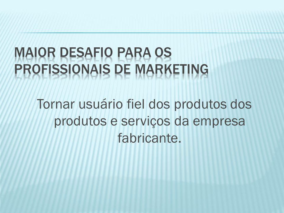 Tornar usuário fiel dos produtos dos produtos e serviços da empresa fabricante.