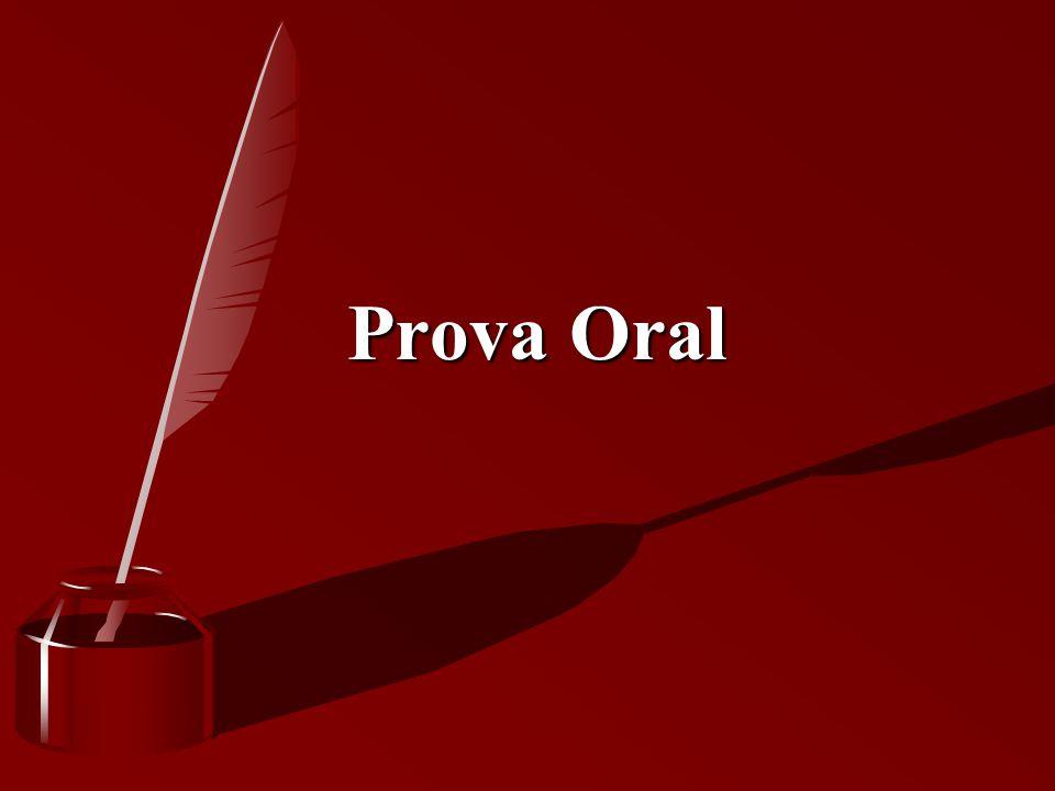 Prova Oral Prova Oral