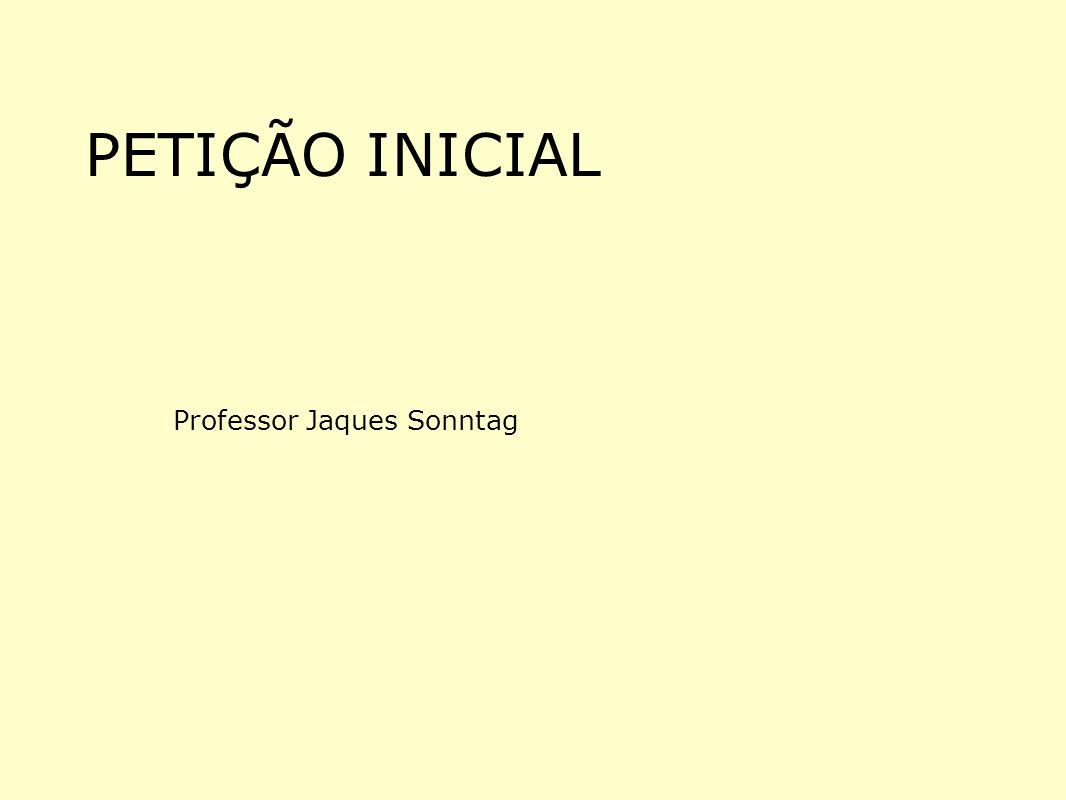 PETIÇÃO INICIAL Professor Jaques Sonntag