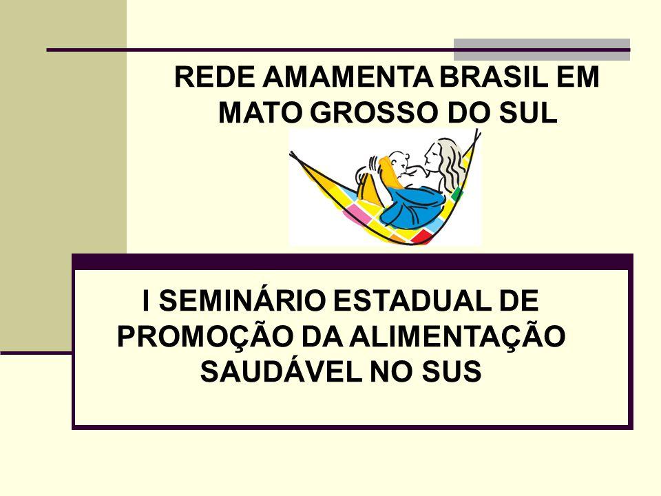 REDE AMAMENTA BRASIL EM MATO GROSSO DO SUL I SEMINÁRIO ESTADUAL DE PROMOÇÃO DA ALIMENTAÇÃO SAUDÁVEL NO SUS