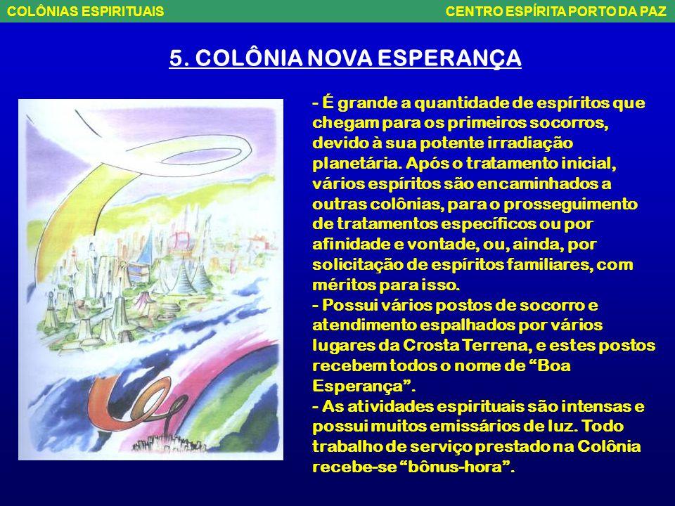 """5. COLÔNIA NOVA ESPERANÇA – Poderia ser chamada de """"Colônia da Estatística Planetária"""", devido à sua importantíssima função, na catalogação de todos o"""