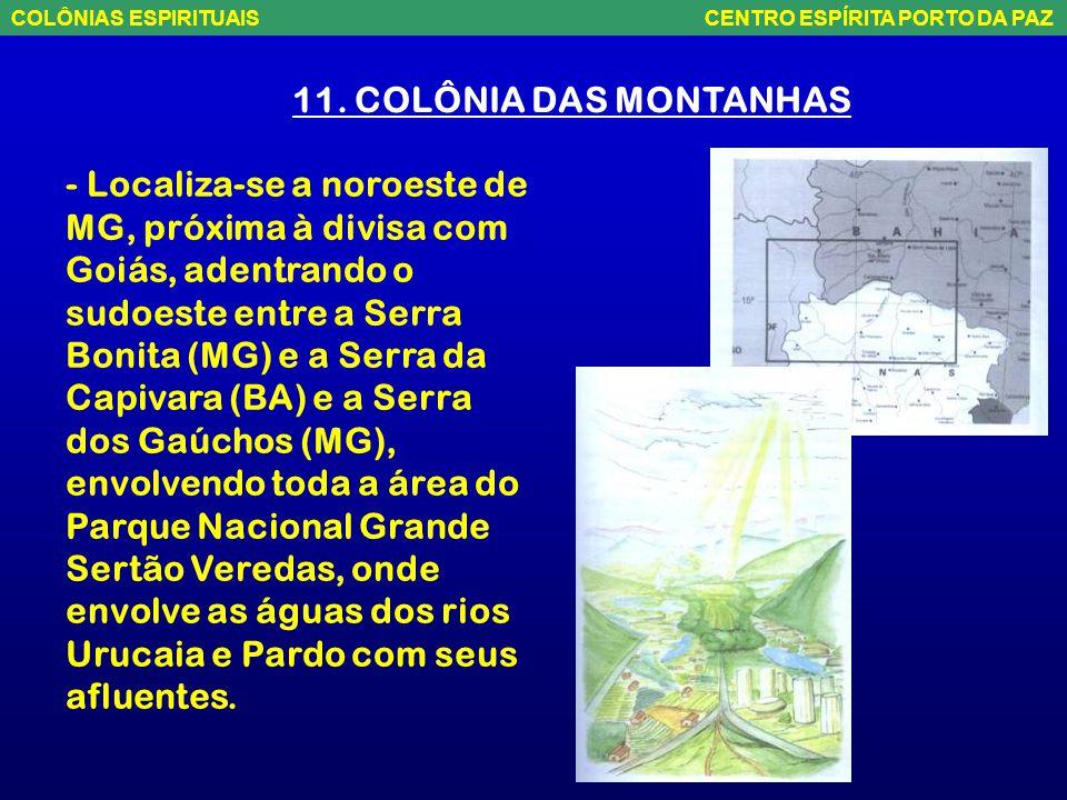 10. COLÔNIA REDENÇÃO - Fica no leste da Bahia, com uma forma mais ou menos triangular, numa área de envolve Salvador, Alagoinhas e Feira de Santana e
