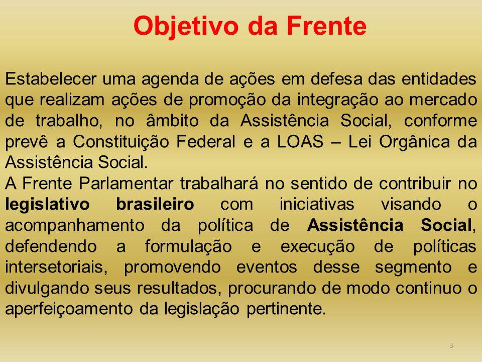 3 Estabelecer uma agenda de ações em defesa das entidades que realizam ações de promoção da integração ao mercado de trabalho, no âmbito da Assistênci