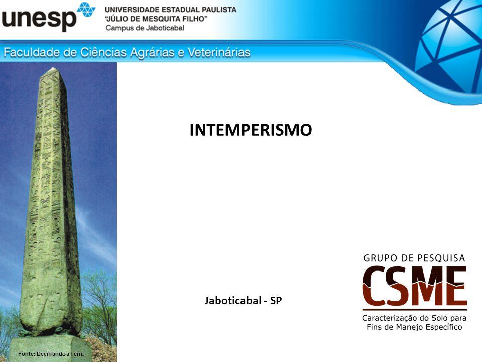 Jaboticabal - SP INTEMPERISMO Fonte: Decifrando a Terra