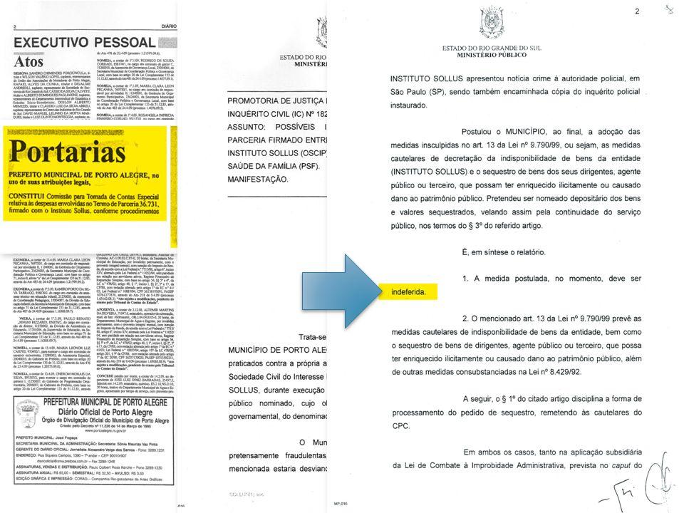 2009 A Secretaria Municipal de Saúde promove auditoria interna (maio) para averiguar todas as contas do Instituto Sollus e encontra mais irregularidades nas notas fiscais.
