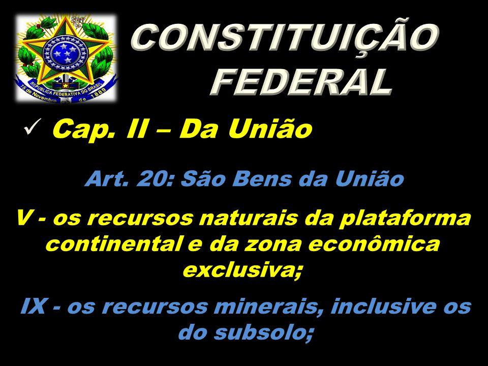  Cap.II – Da União Art.