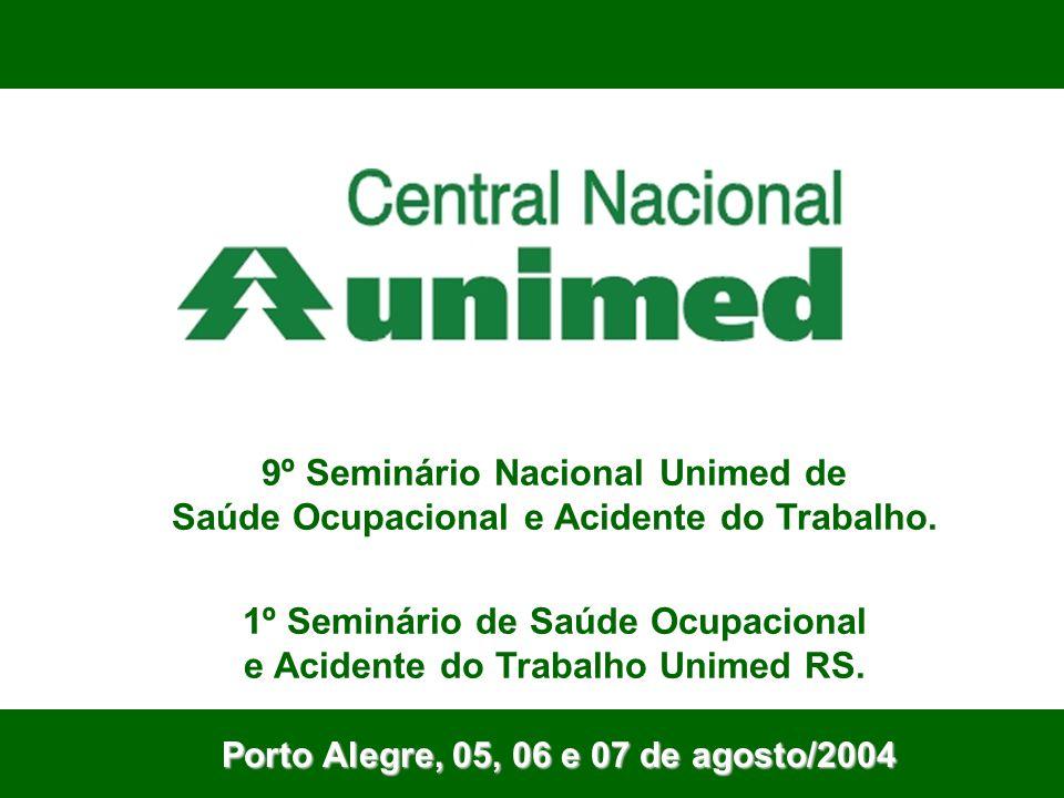 Porto Alegre, 05, 06 e 07 de agosto/2004 9º Seminário Nacional Unimed de Saúde Ocupacional e Acidente do Trabalho. 1º Seminário de Saúde Ocupacional e