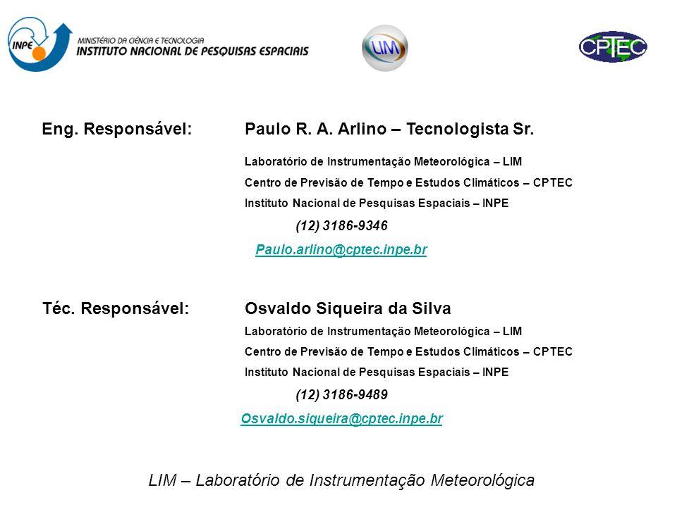 LIM – Laboratório de Instrumentação Meteorológica Eng.