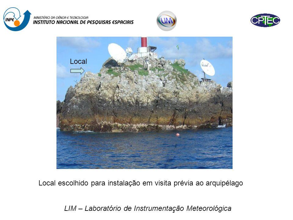 LIM – Laboratório de Instrumentação Meteorológica Local escolhido para instalação em visita prévia ao arquipélago Local