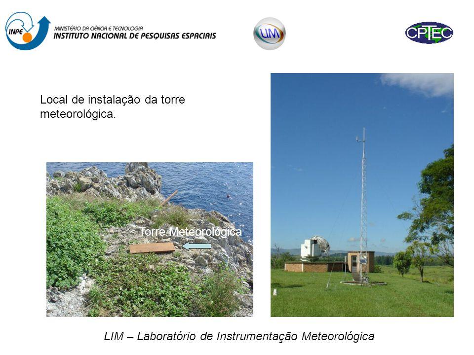 LIM – Laboratório de Instrumentação Meteorológica Local de instalação da torre meteorológica.