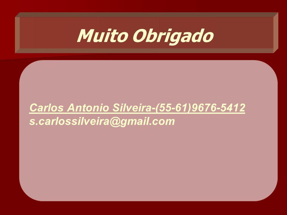 Muito Obrigado Carlos Antonio Silveira-(55-61)9676-5412 s.carlossilveira@gmail.com