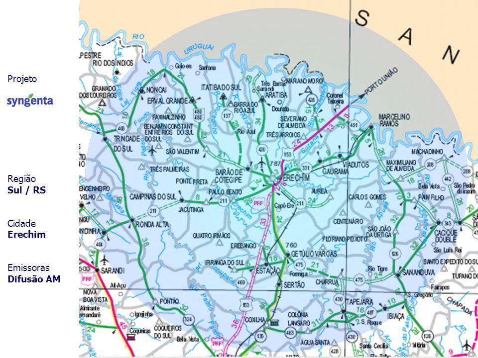 Projeto Região Sul / RS Cidade Erechim Emissoras Difusão AM