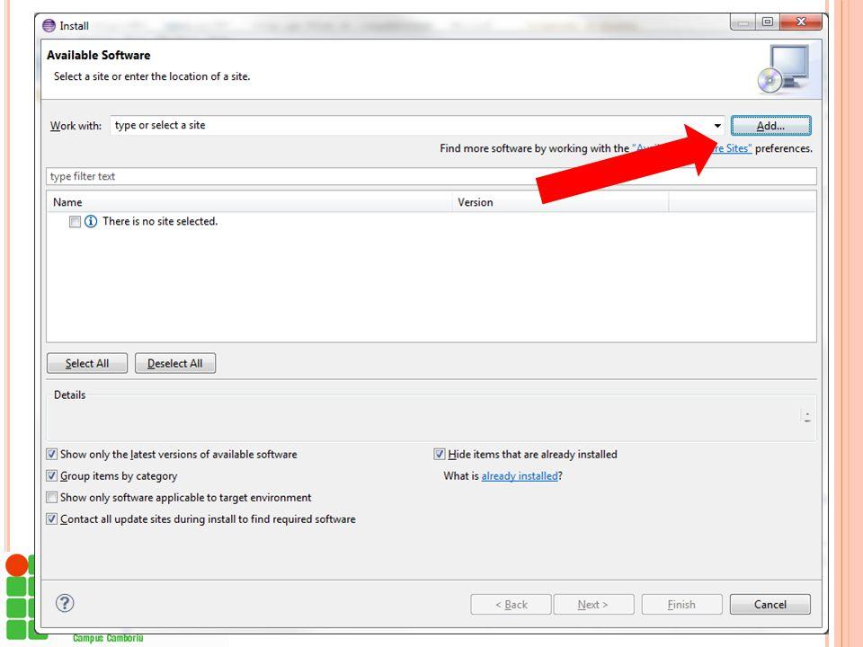 I NSTALAR O OMT-G D ESIGN Baixar o arquivo compactado (.zip) do plug-in OMT-G Design  http://code.google.com/p/omt-g-design http://code.google.com/p/
