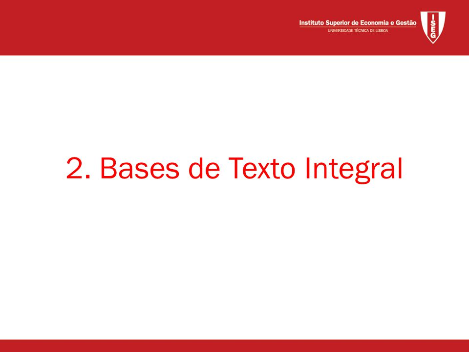 2. Bases de Texto Integral